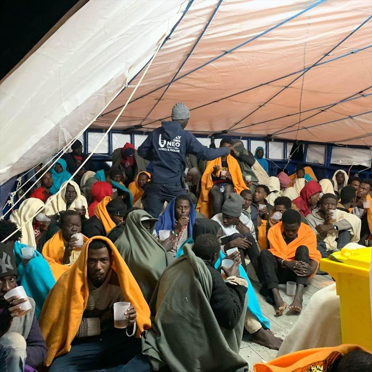 España se ofrece para acoger a parte de las 78 personas rescatadas por el 'Aita Mari'