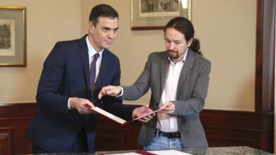Sánchez e Iglesias presentarán esta tarde su programa de Gobierno de coalición