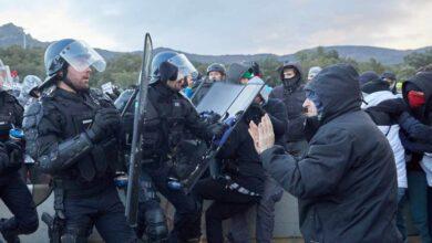 La policía francesa detiene a 18 radicales de Tsunami que bloqueaban la frontera