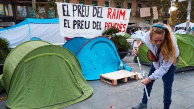 Bronca en la acampada universitaria: acusan a Arran y las JERC de robar el bote