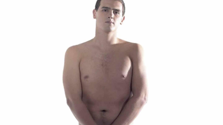 Albert Rivera, en el desnudo para el que posó en 2006 para las autonómicas
