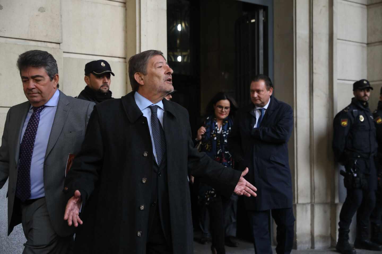 El ex director general de Trabajo Javier Guerrero, tras recibir la sentencia de la pieza política del 'caso ERE'.