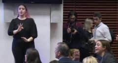 Tensión en el Ayuntamiento de Madrid entre Ortega Smith y una mujer maltratada
