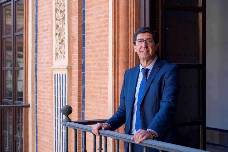 El líder de Ciudadanos (Cs) en Andalucía y vicepresidente de la Junta, Juan Marín.