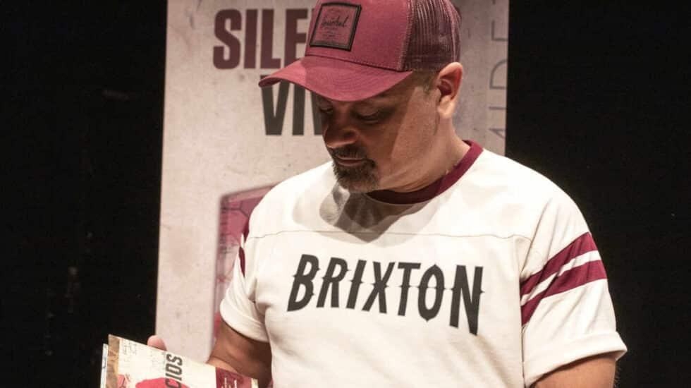 El rapero Nach durante la presentación de su libro en Madrid