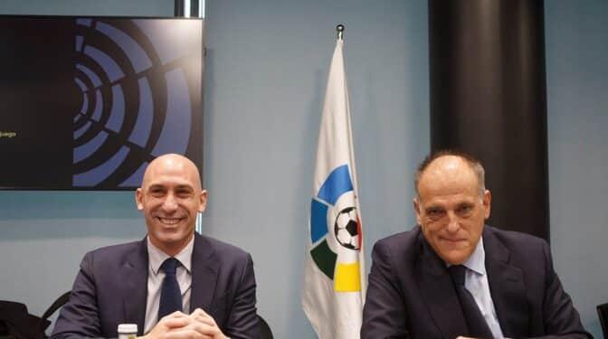 Rubiales entra en la guerra del fútbol y asegura que el acuerdo de LaLiga con CVC es ilegal
