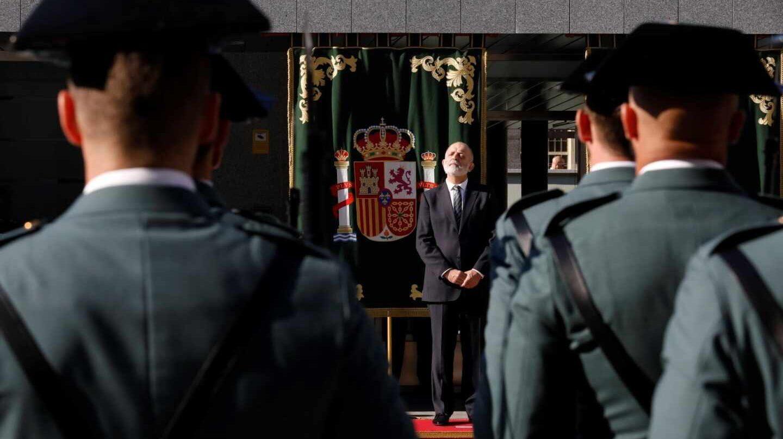 El director general de la Guardia Civil, Félix Azón, en un acto oficial del Cuerpo.