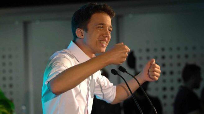 Errejón durante el acto de campaña en Sevilla