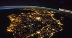 Imagen desde el espacio de la Península Ibérica.