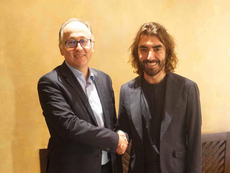 El consejero delegado de Iberia, Luis Gallego, y el consejero delegado de Globalia, Javier Hidalgo.