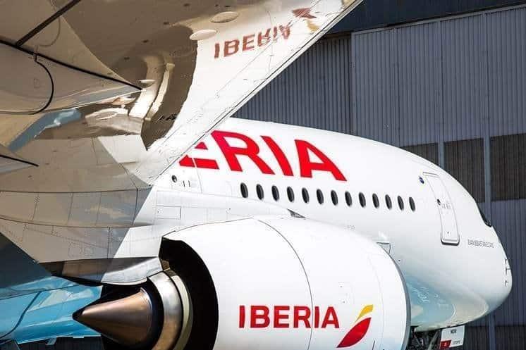 Un avión de la aerolínea Iberia.