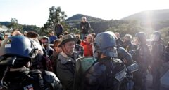 La Guardia Civil, camino de La Jonquera por si se producen disturbios cuando se desaloje