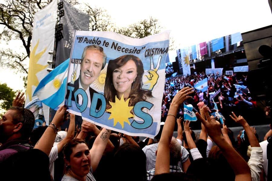Seguidores peronistas en Buenos Aires