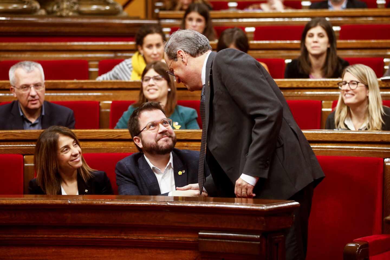 ERC da por buena la tregua presupuestaria de Torra