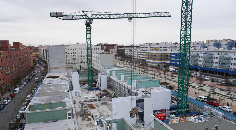 Promoción de viviendas industrializadas de Avintia en Móstoles