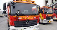 Un camión de bomberos