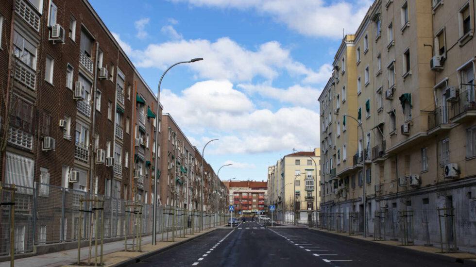 Imagen de la calle ya lista para su inauguración