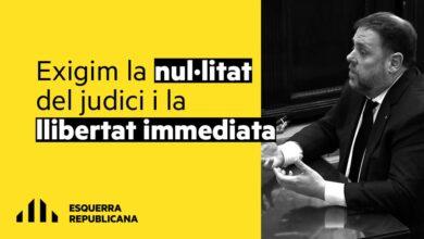 ERC exige la nulidad del juicio y la libertad inmediata de Junqueras