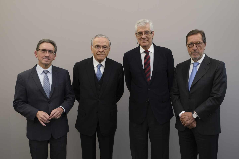 Jaume Giró, Isidro Fainé, Juan José López Burniol y Antonio Vila
