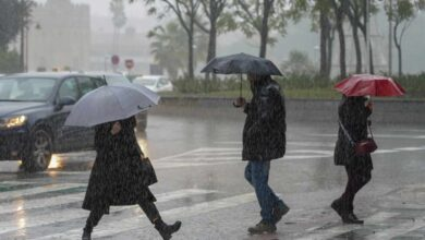 Alerta por lluvia y tormentas en 13 comunidades autónomas, cuatro de ellas en aviso naranja