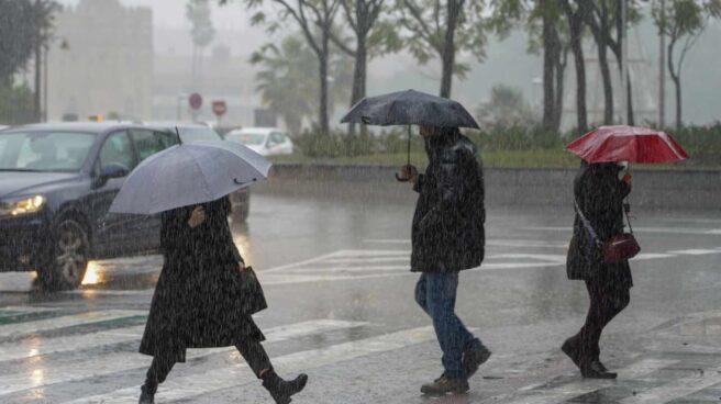 Temporal de lluvia.