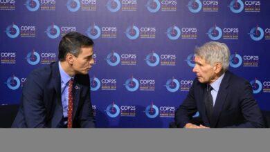 De Al Gore a Harrison Ford: la ajetreada tarde de Sánchez en la Cumbre del Clima