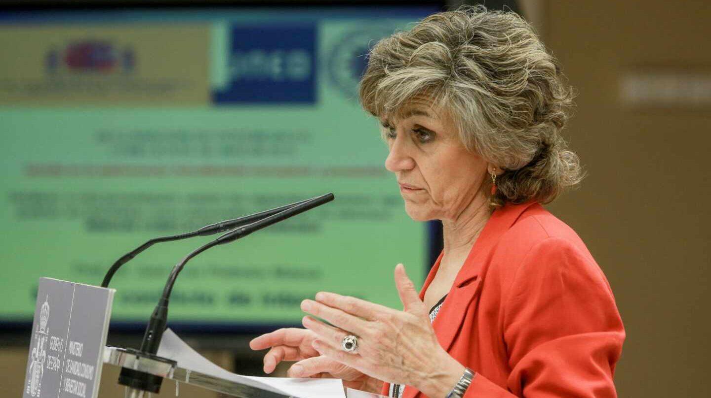 María Luisa Carcedo, ministra de Sanidad en funciones, en una intervención pública.