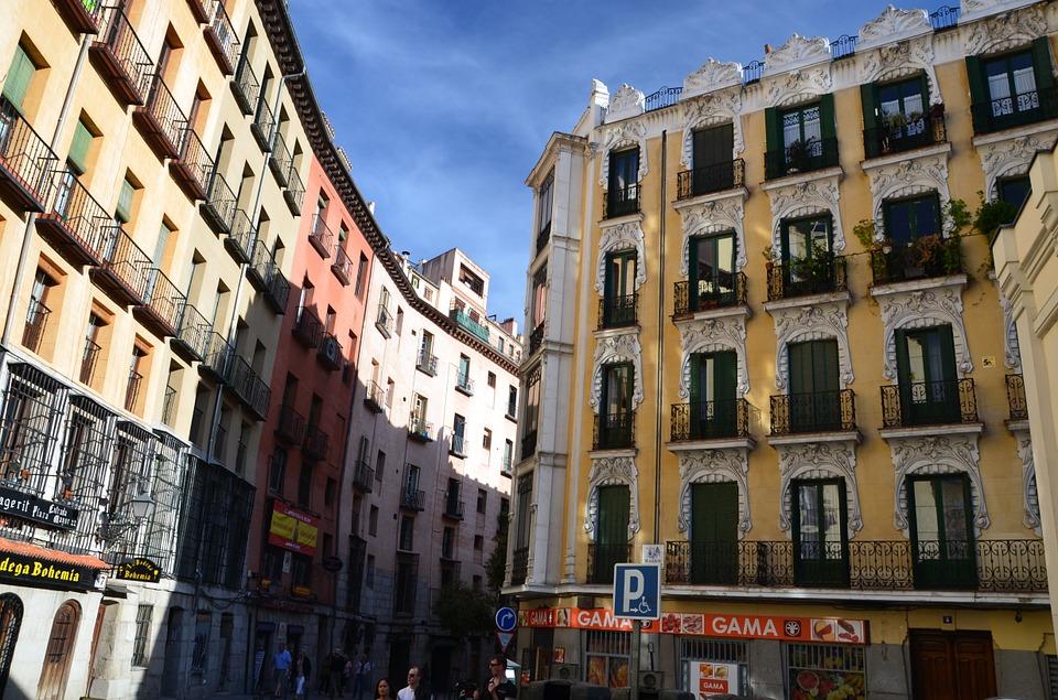Edificios en Madrid.