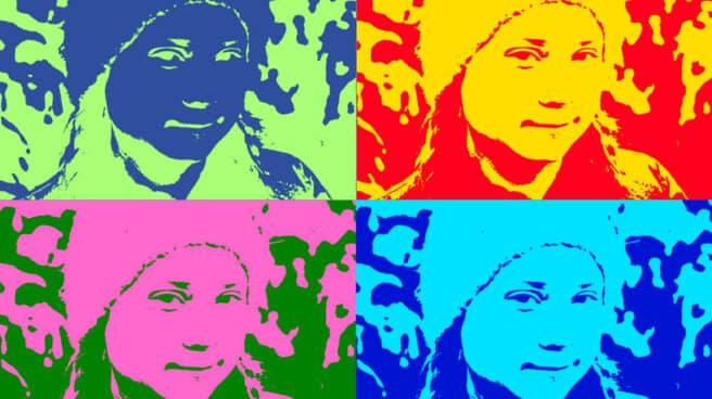 Greta Thunberg en versión Andy Warhol