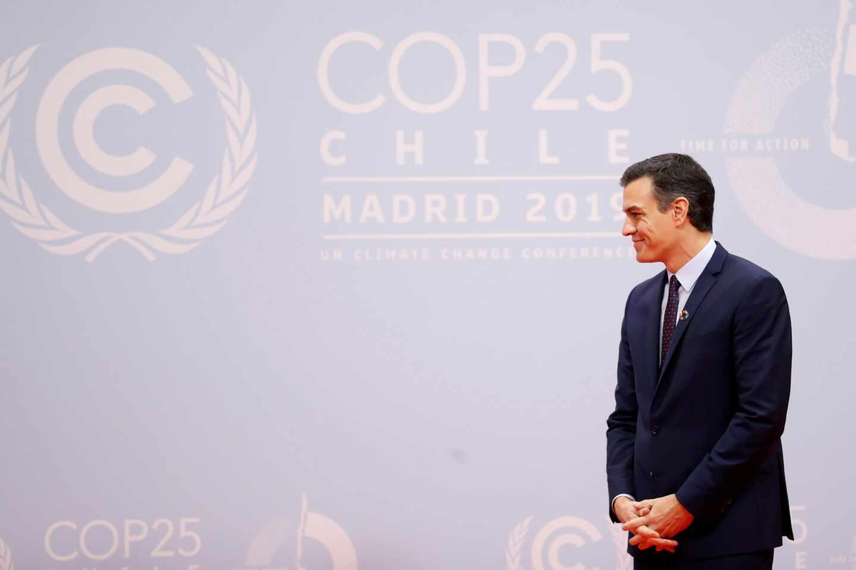 El presidente del Gobierno, Pedro Sánchez, en la apertura de la Cumbre del Clima en Madrid.