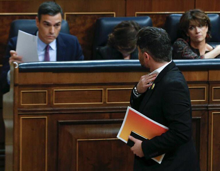 """Moncloa apuesta por retener el apoyo de ERC: """"Nos ha faltado tiempo"""""""