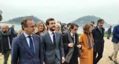 Aznar y Casado a su llegada al Palacio de Miramar de San Sebastián.