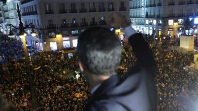 """""""Nuestra esperanza"""": el pueblo venezolano en España arropa a Guaidó"""