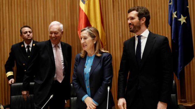 José Manuel García-Margallo, Ana Pastor y Pablo Casado.