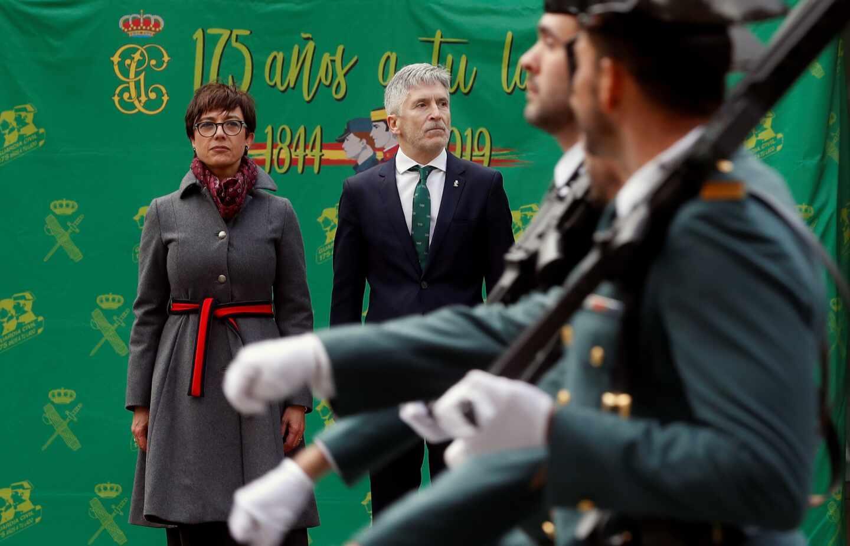 Grande-Marlaska y María Gámez, en la toma de posesión de ésta como nueva directora de la Guardia Civil.