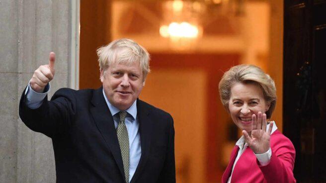 Boris Johnson y Ursula von der Leyen