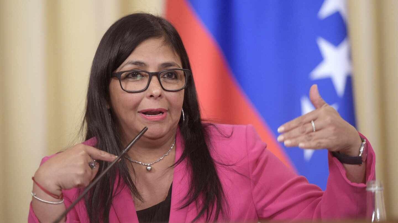 La vicepresidenta ejecutiva de Venezuela, Delcy Rodríguez.