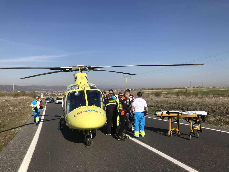 Helicóptero de Emergencias de la Comunidad de Madrid.
