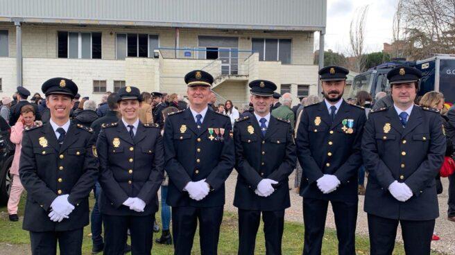 El ya defenestrado José María García (tercero por la izquierda) y otros miembros del comité ejecutivo de Jupol.