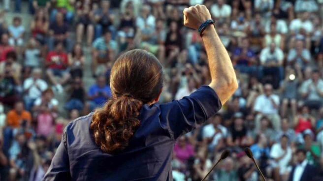 Pablo Iglesias en un mitin de 2015 en Badalona