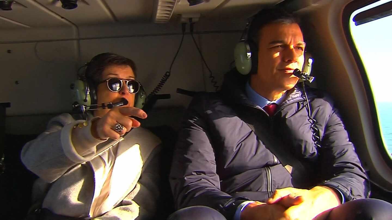 Pedro Sánchez sobrevuela Mallorca tras la borrasca Gloria