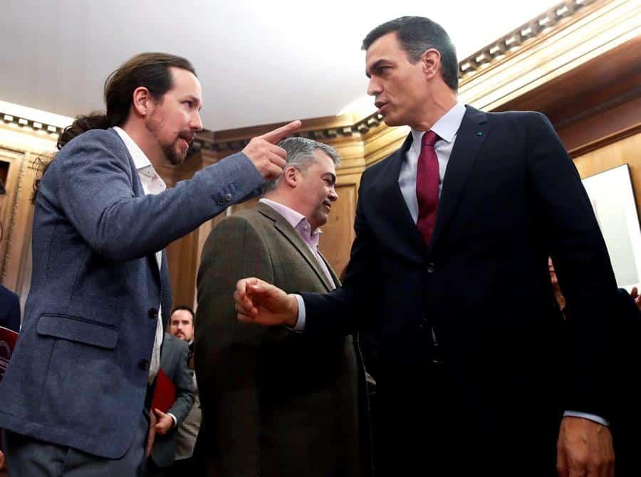 Los ministros de Podemos: Montero, Garzón, Castells y Díaz