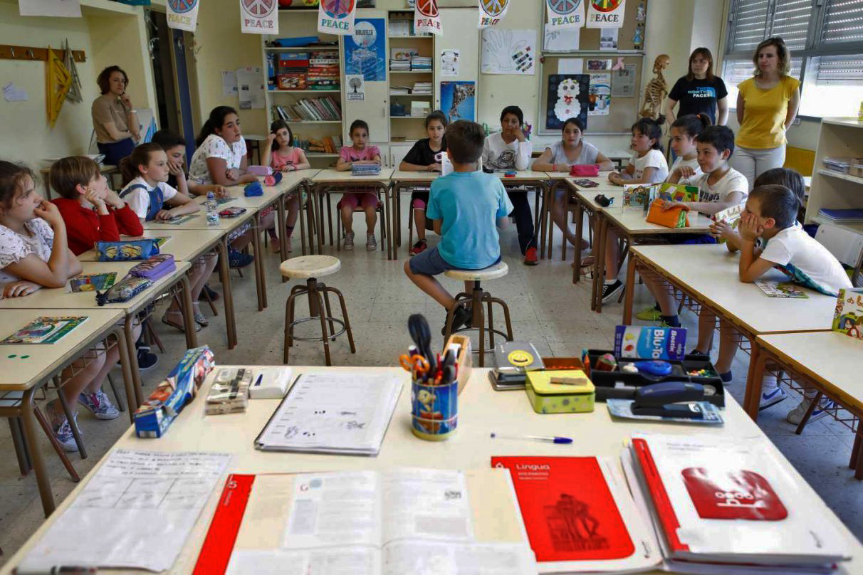 Un colegio de Galicia durante una clase