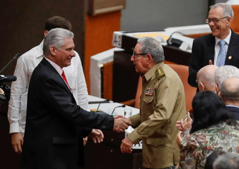 Díaz-Canel y Raúl Castro