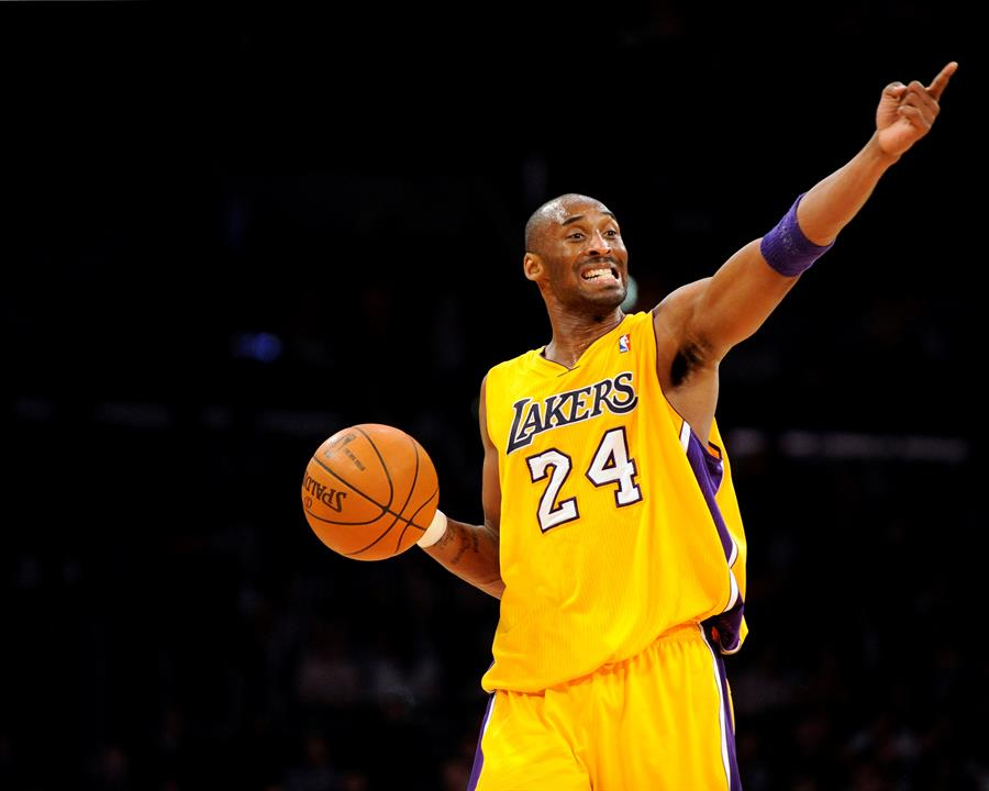 Kobe Bryant en un partido de 2012