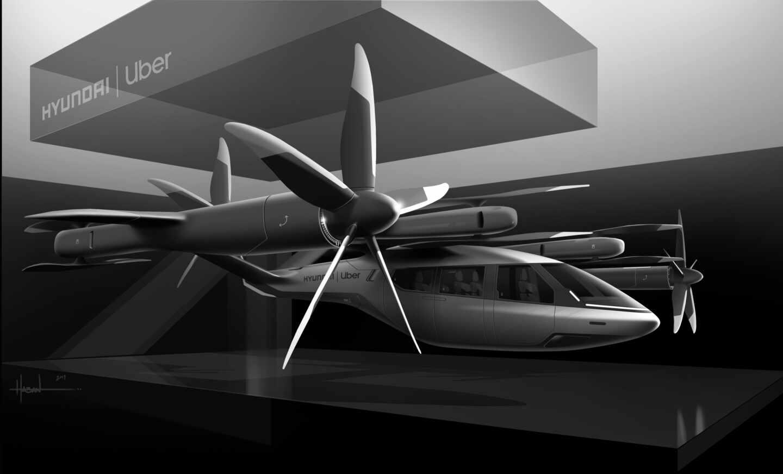 Nave que Hyundai y Uber usarán para su servicio de taxis aéreos.