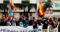 Protesta de afiliados y simpatizantes de Jucil y Jupol a las puertas de la Secretaría de Estado de Seguridad el pasado verano.