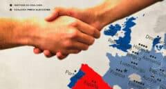 Mapa Unión Europea gobiernos coalición