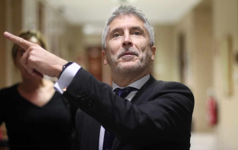 El ministro Fernando Grande-Marlaska, en el Senado.
