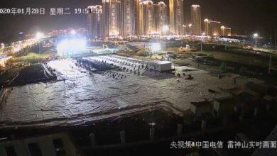 Webcam en directo: China construye dos hospitales en 10 días para contener el coronavirus en Wuhan
